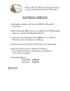 SATURDAY_SERVICE_POLICY